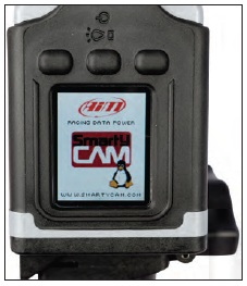 The Smarty Cam's 128 x 160 pixel multicolor LCD display shows system menus as well as offering a quick preview of the unit's H.264-encoded 30 frames-per second video recordings.
