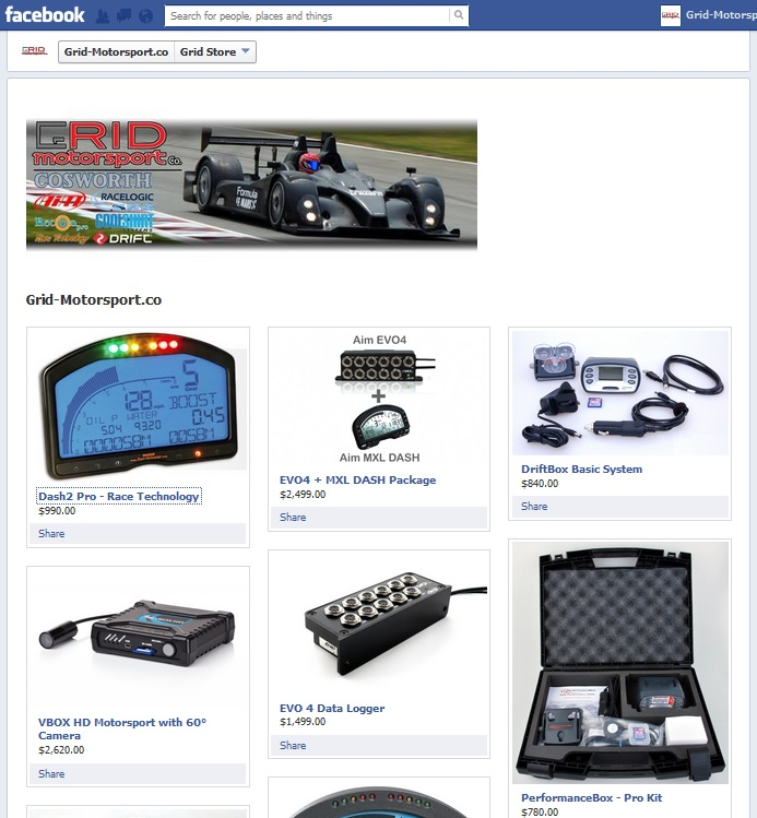 Grid FB Store