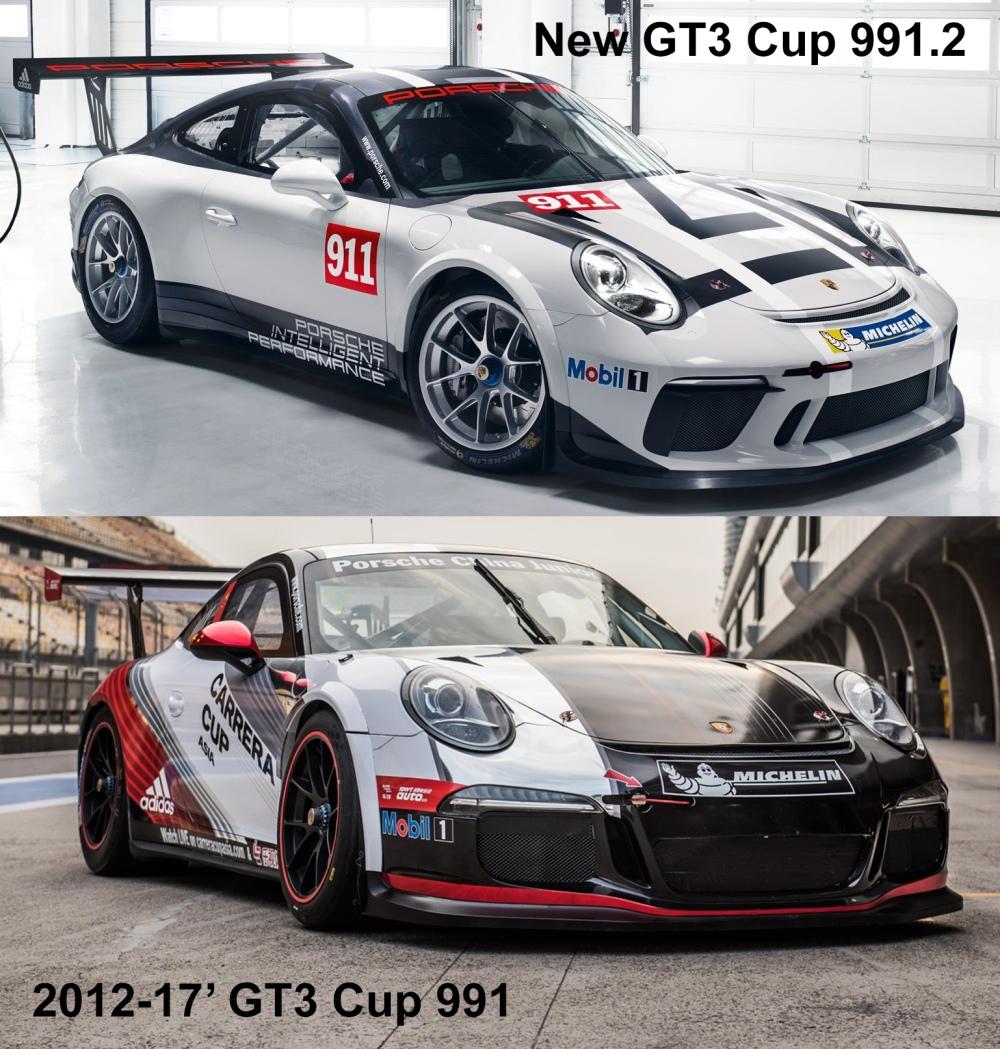 Porsche GT3 Cup 991 Comparison