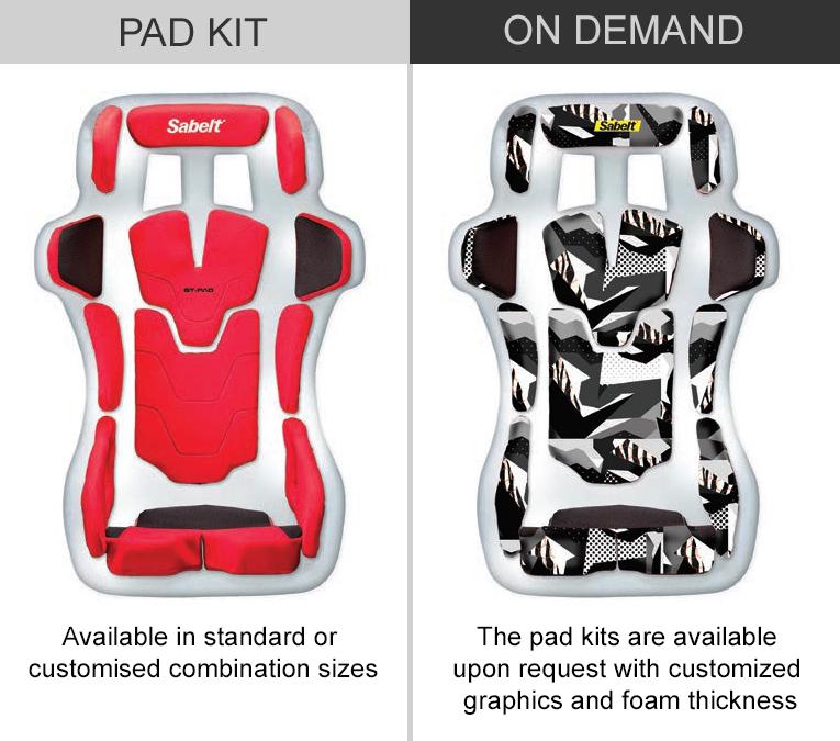 Sabelt GT Pad Kit and On Demand