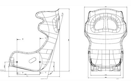 Sabelt GT-E Seat Dimension